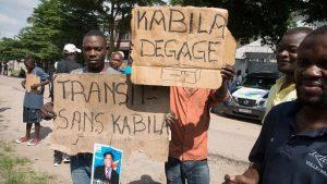 Manifestants à Kinshasa