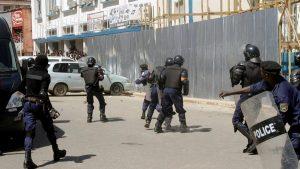 La police quadrille la ville