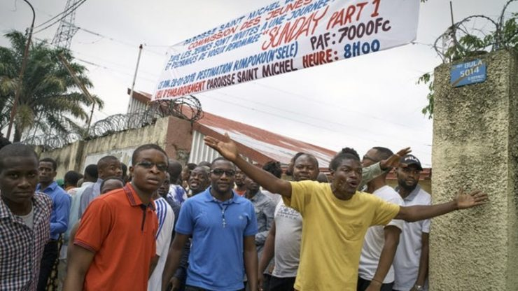 Anti-Joseph Kabila protesters left five people dead and scores injured in Kinshasa. (Robert Carrubba/EPA-EFE)