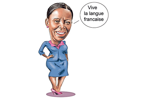 Rwanda's Foreign Minister Louise Mushikiwabo is campaigning to become Francophonie secretary-general. ILLUSTRATION | JOHN NYAGAH | NMG